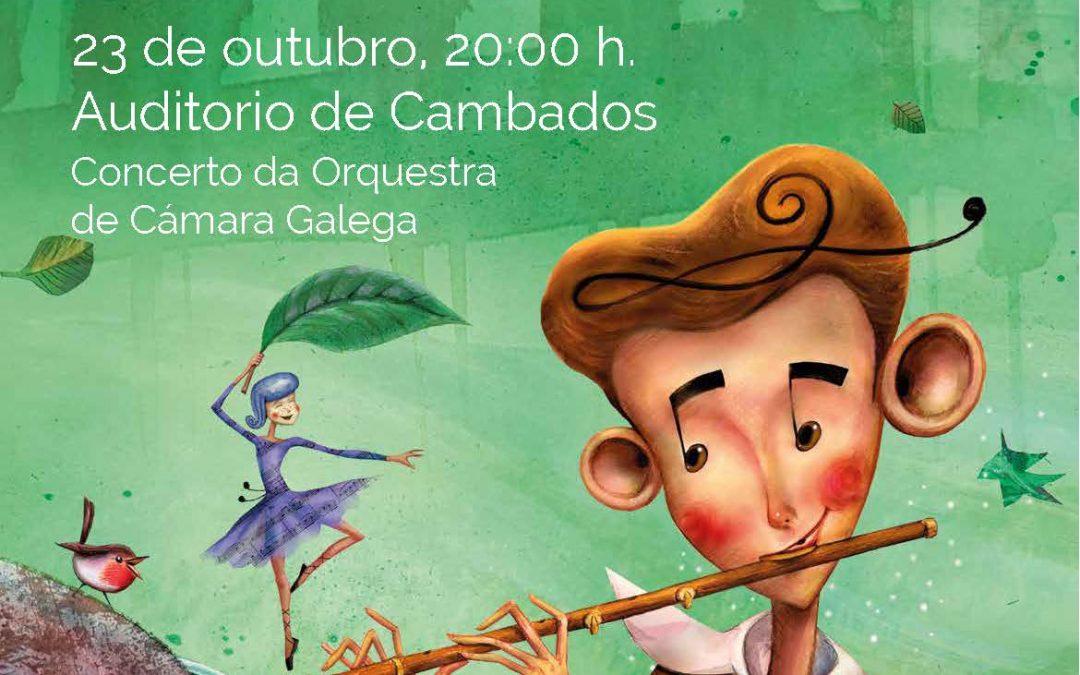 Concerto presentación do audiolibro O Neno Groba e Música o 23 de octubre en Cambados.